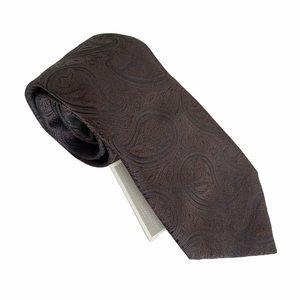 Canali Brown Paisley Print Tie